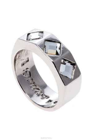 Купить Кольцо Jenavi Коллекция Quadro Контексте, цвет: серебряный, белый. r850f000. Размер 16