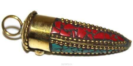 Купить Подвеска Ethnica, цвет: золотой, черный, зеленый, красный. 252050