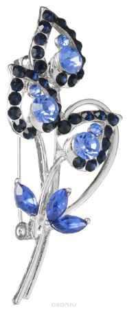 Купить Брошь Migura, цвет: серебряный, синий, голубой. NOAE0343