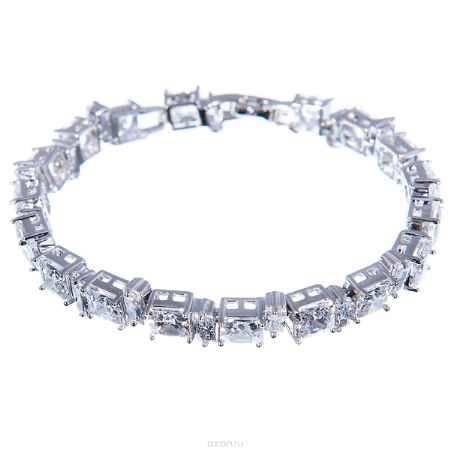 Купить Браслет жен. Selena Diamond, цвет: белый, серый металлик. 40054440