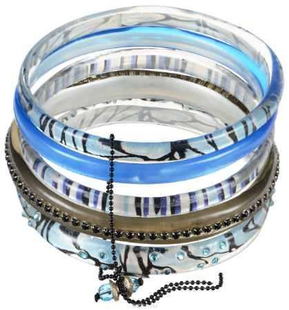 Купить Браслет Lalo Treasures ROW, цвет: голубой, серый. Bn2500