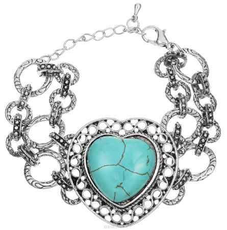 Купить Браслет Fashion House, цвет: голубой, черненое серебро. FH33032