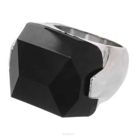 Купить Кольцо Taya, цвет: серебристый, черный. Размер 17,5. T-B-5701