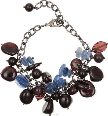 Купить Браслет Polina Selezneva, цвет: бордовый, синий, черный. 002-2816