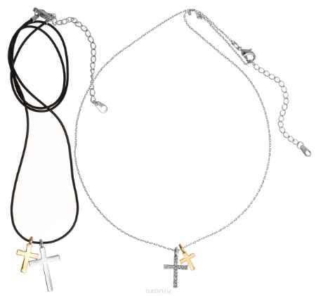 Купить Кулон Art-Silver, цвет: серебряный, черный, золотой, 2 шт. 10785-539