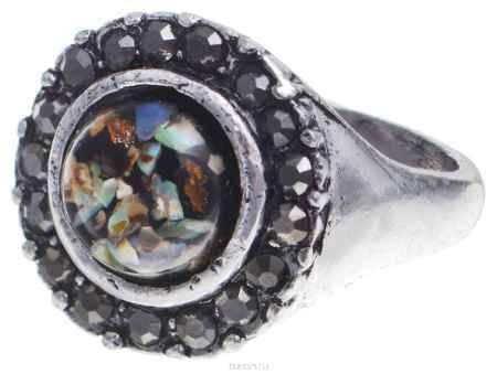 Купить Кольцо Taya, цвет: серебряный, коричневый, зеленый. Размер 20. T-B-8679