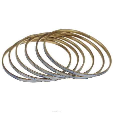 Купить Набор браслетов Ethnica, цвет: голубой, 6 шт. 098045