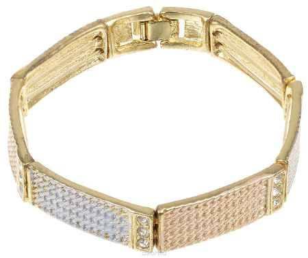 Купить Браслет Fashion House, цвет: золотой, бежевый, серый. FH26277