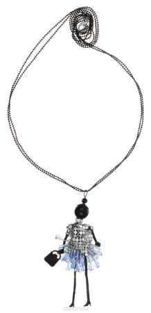 Купить Кулон Happy Charms Family, цвет: черный, серебряный, голубой. NODL0015