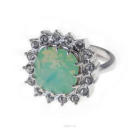 Купить Кольцо Jenavi Коллекция Морской коктейль Беннет, цвет: серебряный, белый. j011f003. Размер 16