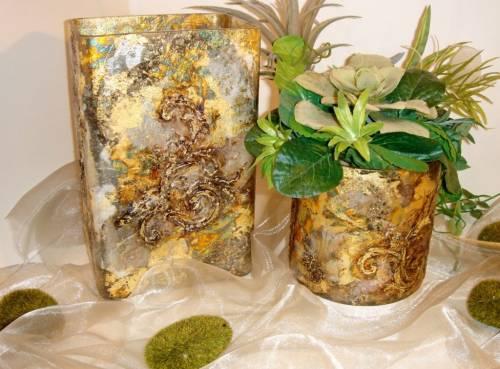 Как украсить вазу для цветов