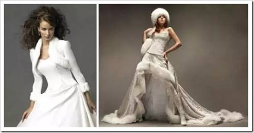 Зимний вариант подвенечного платья