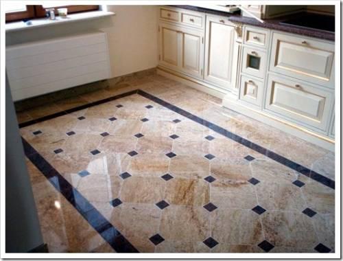 кафельная плитка на полу кухни
