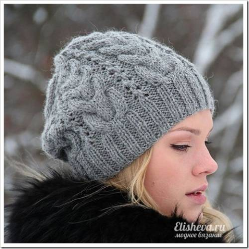 Классическая шапка с помпоном
