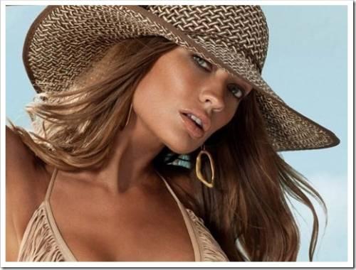 Различные виды пляжных шляп