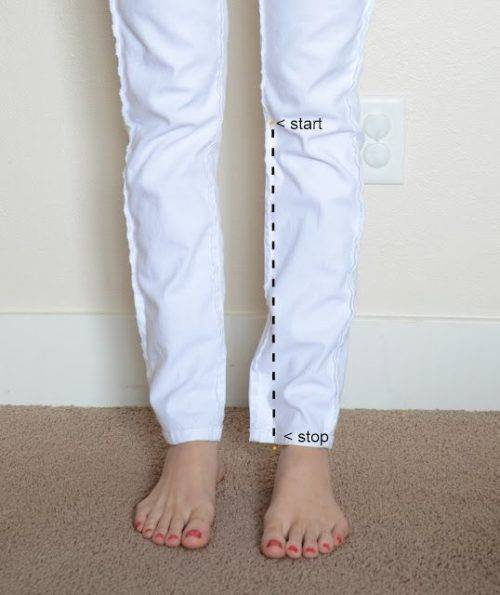 Как заузить брюки женские