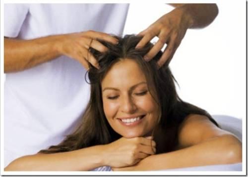 Подготовка головы к активизации кровотока