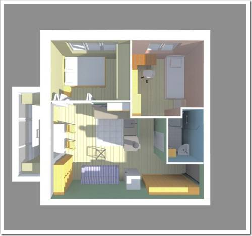 Применение освещения для разграничения пространства