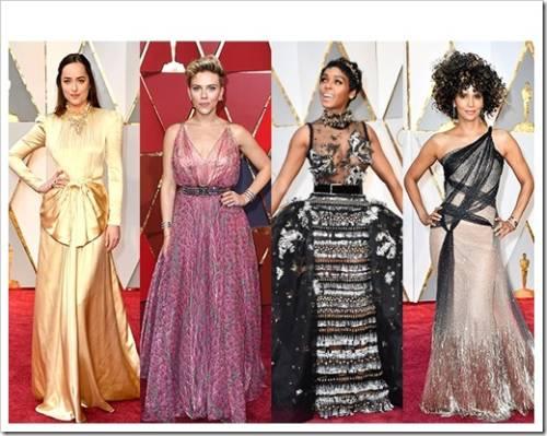 Вечерние платья знаменитостей на вручении Оскар 2017