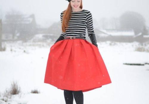 Какие юбки носить зимой