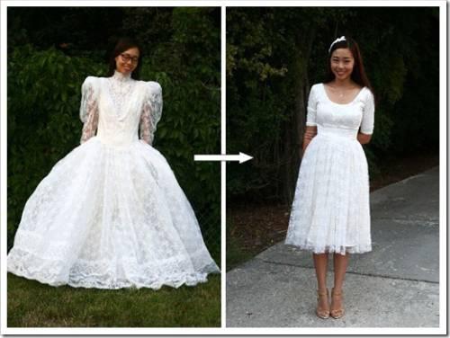 Как перешить свадебное платье в вечернее?