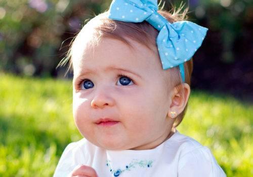 Как выбрать серьги для маленькой девочки