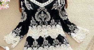 Как украсить блузку кружевом
