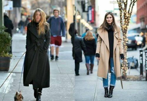 С чем носить пальто-халат с поясом