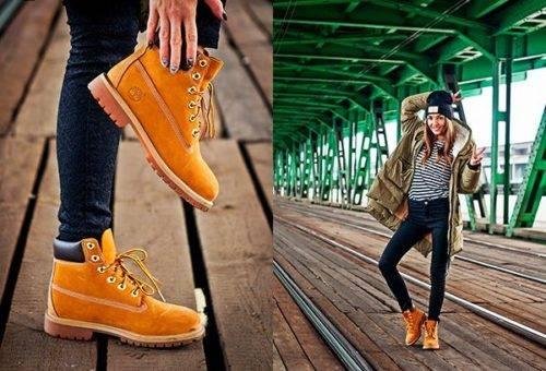С чем носить рыжие женские ботинки