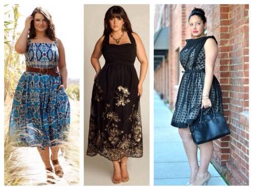 Какие платья подходят полным девушкам