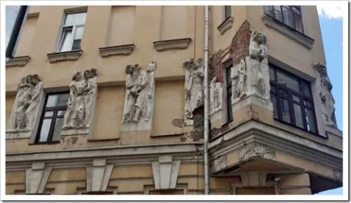 Реставрация фасадов из натурального камня